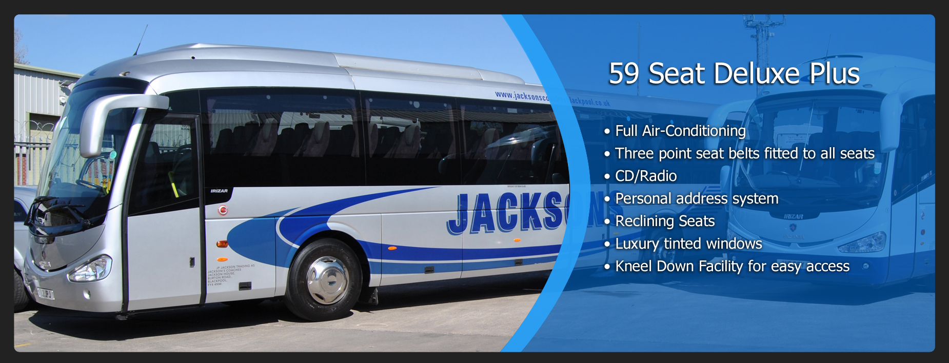 Jacksons Coaches - Coach Hire Blackpool